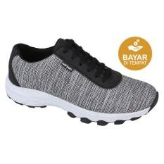 Catenzo Sepatu Lari Pria Canvas TF 148 - Black Grey