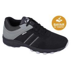 Catenzo Sepatu Lari Pria Dy 046 Black Grey Murah