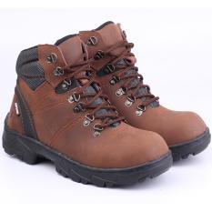 Rp 265.000. Catenzo Sepatu Safety Boots Kulit Asli Proyek Bengkel Pabrik Industri Kontraktor Outdoor Lapangan LI066 Best Seller ...