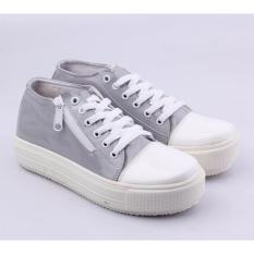 Toko Catenzo Sepatu Sneaker Kets Wanita Sq 003 Gray Catenzo