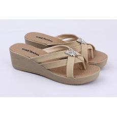Catenzo SM 200 Sandal Wedges Wanita - bahan sintetis - tpr outsole - 5cm -  cantik a101e57353