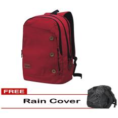 Harga Catenzo Tas Ransel Backpack Sekolah Kuliah Kerja Pria St033 Best Seller Merah Plus Gratis Rain Cover Pelindung Hujan Terbaik