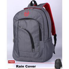 Beli Catenzo Tas Ransel Punggung Sekolah Kuliah Kerja Cl004 Plus Gratis Rain Cover Grey Secara Angsuran