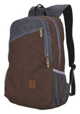 Catenzo Unisex Backpack/Ransel Bisa Buat Laptop  + Rain Cover- Canvas 463 St 041