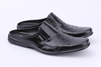 Beli sekarang Catenzo YA 057 Sandal Selop Pria - bahan leather - tpr  outsole - simple dan keren (black) terbaik murah - Hanya Rp173.901 6d49c970a9