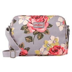 Cath Kidston Matt Oilcloth Crossbody Mini Busy Bag Richmond Rose Grey 570510 - intl