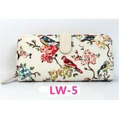 Cath King Fashion Wanita Ritsleting Panjang Dompet Kartu Paket-Bunga dan Burung-Intl