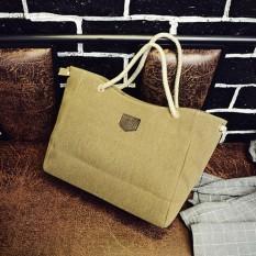 Catree Wanita Zipper Canvas Tote Purse Messenger Travel Shopping Bahu Casing Casing-Intl