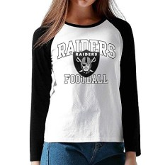 CAZUOSI Women's Oakland Raiders.png Long Sleeve Baseball T-Shirt - intl