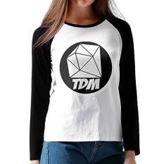Cazuosi Wanita Thediamondminecart TDM1.png Lengan Bisbol Kaus-Internasional