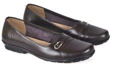 Jual Cbr Six Puc 708 Sepatu Pantofel Moccasin Forma Kerja Wanita Elegan Kulit Asli Coklat Tua Import