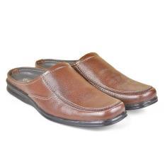 Cbr Six Rdc 852 Sepatu Slop/Bustong Pria-Kulit-Elegan ( Coklat )