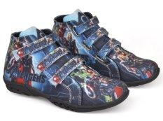 Jual Cbr Six Rnc 015 Sepatu High Cut Sneaker Anak Laki Laki Lucu Canvas Biru Original