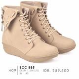 Diskon Cbr Six Sepatu Boot Wanita Bcc 885 Cream