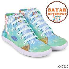 Jual Cbr Six Sepatu Boots Anak Perempuan Frozen Cantik Cnc 310 Hijau Branded Murah