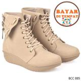 Harga Cbr Six Sepatu Boots Wanita Modis Bcc 885 Krem Original