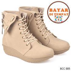 Review Cbr Six Sepatu Boots Wanita Modis Bcc 885 Krem