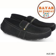 Toko Jual Cbr Six Sepatu Casual Slip On Pria Keren Dan Trendy Auc 061 Hitam