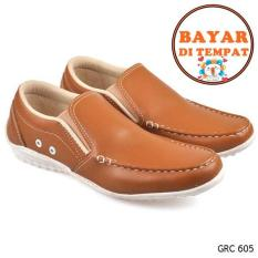 Cbr Six Sepatu Casual / Slip On Pria Keren Dan Trendy GRC 605 - Coklat