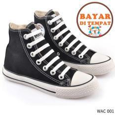 Cbr Six Sepatu Sneakers / Kets Anak Laki-Laki Keren Dan Trendy WAC 001 - Hitam