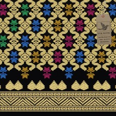 Cek Batik - Kain Bali Prada Etnik Cantik Warna Motif Gold / Emas ( HITAM, Biru, Hijau, Pink, Kuning )