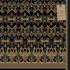 Cek Batik - Kain Bali Prada Etnik Cantik Warna Motif Gold / Emas  ( HITAM, Hijau, Biru, Orange, Putih )