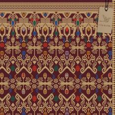 Cek Batik - Kain Bali Prada Etnik Cantik Warna Motif Gold / Emas  ( MAROON, Hijau, Biru, Orange, Putih )