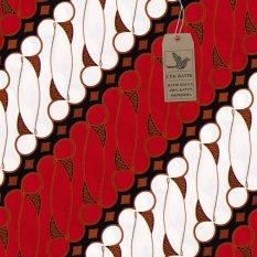 Cek Batik - Kain Batik Motif Parang Jawa (Merah)
