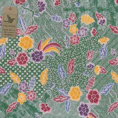 Cek Batik Kain Motif 3 Bunga (Hijau)