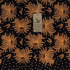 Cek Batik - Kain Motif Batik Classic Padi (Hitam Manis)