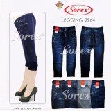 Beli Celana 2964 Legging 3 4 Stretch Motif Jeans Sorex Abu Online