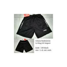 Celana Badminton Lining 238 Black Celana Pendek Bulutangkis Import