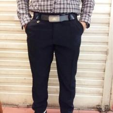 Katalog Celana Bahan Formal Twis Pria Slimfit Hitam 27 38 Terbaru