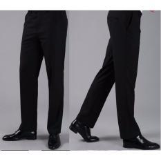 Harga Celana Bahan Kerja Slimfit Murah Bahan Bagus Hitam Lengkap