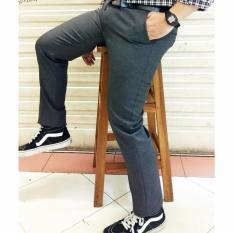 Harga Celana Bahan Slimfit Celana Kerja Kantor Slimfit Celana Slimfitwol Abu Tua 29 38 Indonesia