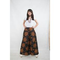 Diskon Celana Batik Kulot Panjang Wanita Jumbo Long Pant Honey Banten
