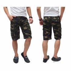 Celana Cargo Pendek Army Dark Green Jawa Barat Diskon