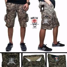 Celana cargo pendek pria-cargo loreng pendek