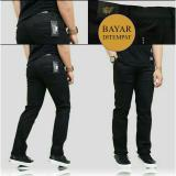 Jual Celana Chino Hitam Casual Pria Best Seller Bms Clothing Original