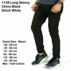 Celana Chino Jumbo Besar Distro / Chinos hitam / black 27-38 by Denim
