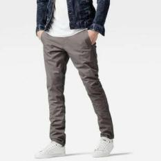 Spesifikasi Celana Chino Panjang Grey Abu Slimfit Yang Bagus Dan Murah