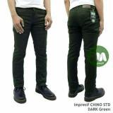 Diskon Produk Celana Chino Pria Green Army