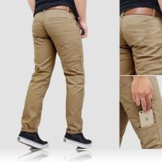 Beli Celana Chino Pria Pocket Cream Kredit
