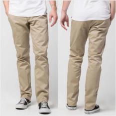 Alva jeans Celana Chino Pria Regular (Cream)