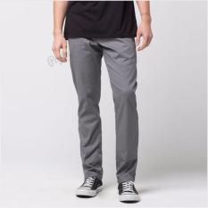 Celana Chino Pria Slimfit Skinny - Grey / Abu