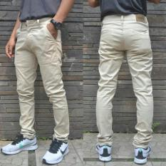 Jual Celana Panjang Chino Pria Ukuran Besar Bigsize Cream Di Jawa Barat
