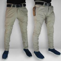 Celana Chino Pria - Skinny Fit Cotton Stretch Best Seller