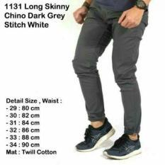 Celana Chinos Distro / Chino Abu ABu Besar Jumbo PAnjang By Denim Ori