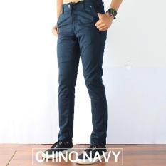 CELANA CHINOS SLIMFIT PRIA NAVY BLUE