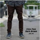 Model Celana Cino Pants Panjang Pria Chino Coklat Terbaru